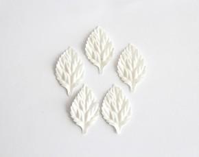 Листья без стебельков Белые, 10 шт.