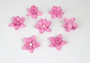 Цветы фиалки 3 см, Розовые, 5 шт.