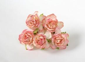 Розы кудрявые 4 см. розово-желтые 1шт.