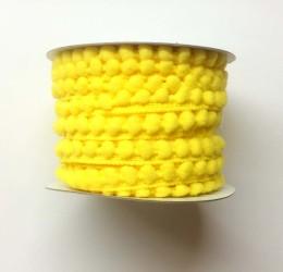 """Лента """"Шарики"""" желтая, 1 м."""
