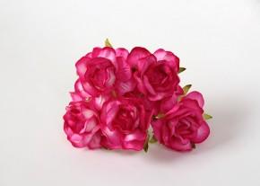 Розы кудрявые 4 см фуксия, 5 шт.