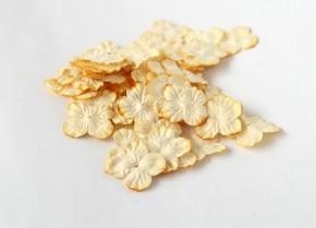 Лепестки гортензий 3 см желто-оранжевые , 10 шт.