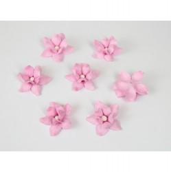 Цветы фиалки 3 см, Светло-розовые, 5 шт.