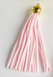 Кисточка замшевая с золотым колпачком 8,5 см, светло-розовый, 1 шт.