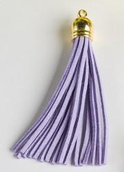 Кисточка замшевая с золотым колпачком 8,5 см, светло-фиолетовый, 1 шт.
