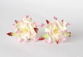 Гардения 4-5 см Светло-розовый + молочный, 1 шт.
