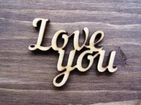 """Деревянное украшение """"Love you"""""""