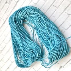 Шнур вощеный Голубой, 1 м. (2мм)