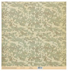 Бумага для скрапбукинга с клеевым слоем «Камуфляж», 30,5 × 32 см, 250 г/м
