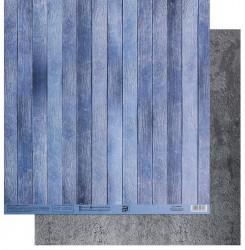 Бумага для скрапбукинга «Голубые доски», 30.5 × 32 см, 180 гм