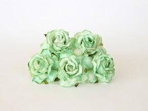 Розы кудрявые 4 см светло-зеленые, 5 шт.