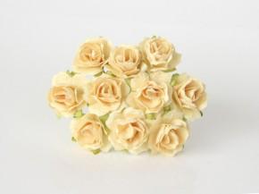 Розы кудрявые 2 см желто-молочные, 1 шт.