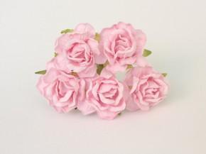 Розы кудрявые 4 см светло-розовые, 1 шт