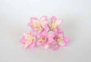 Лилии розовый+белый, 1 шт.
