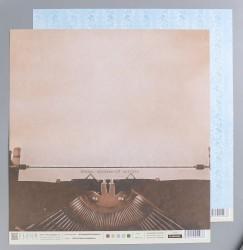 """Лист бумаги для скрапбукинга """"Печатная машинка"""", 190 гр/м2"""