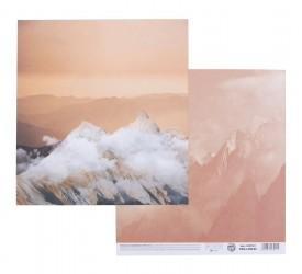 Бумага для скрапбукинга «Горы», 180 г/м