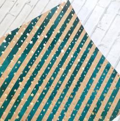 Бумага для скрапбукинга крафтовая с фольгированием «Северное сияние», 20 × 20 см, 180 г/м