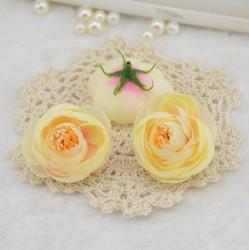 Чайная роза из искусственного шелка Шампанское, диаметр 4,5 см, 1 шт.