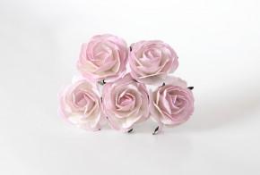 Макси розы светло-розовый+белый 4 см,1 шт.