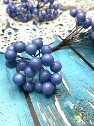 Ягодки на веточке светло-синие, 1 двусторонняя веточка