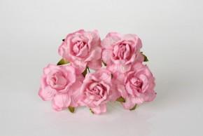 Розы кудрявые 4 см. светло-розовые 1 ш