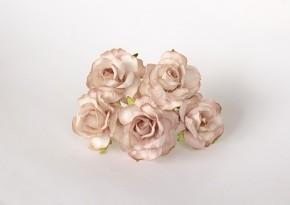 Розы кудрявые 4 см св. бежевые, 1 шт.