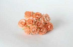 Розы кудрявые 2 см светло-оранжевые,1шт.