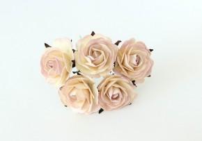 Макси-розы св.сиреневый+молочный 4 см, 1 шт.