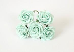 Макси-розы с закругленными лепестками мятные 1 шт.