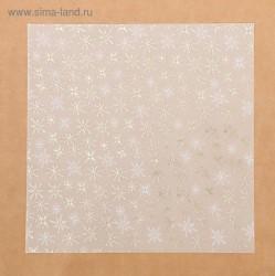 Калька декоративная c золотым тиснением «Зимнее утро», 30,5 × 30,5 см
