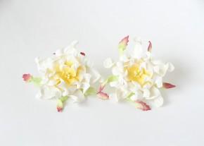 Гардения 7 см Белая с желтым, 1 шт.
