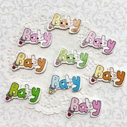 Деревянные украшения BABY 5  шт