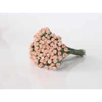 Микро бутоны роз Персиковые, 1 шт.