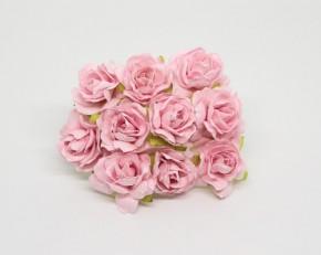 Розы кудрявые 3 см светло-розовые, 1 шт.