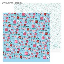 Бумага для скрапбукинга «Подарочки», 30,5 х 30,5 см