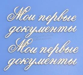 """Чипборд надписи """"Мои первые документы"""", средний"""