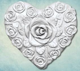 """Молд """"Сердце в розах"""""""