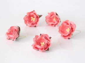 Цветок яблони Розовоперсиковый 1 шт.