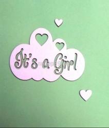 """Чипборд """"Облако """"It's a girl"""""""
