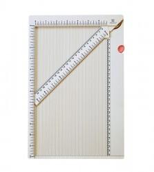 Доска для биговки с палочкой + инструкция для создания конвертов и коробочки  (рабочая поверхность 17х30,5 см)