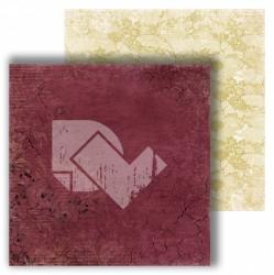 """Лист двусторонней бумаги """"Кружево"""" из коллекции """"Магнолия"""", 30,5х30,5 см, пл. 250 г/м2"""