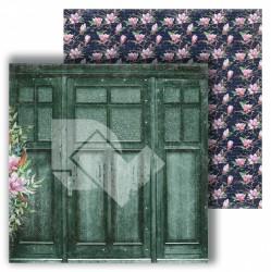 """Лист двусторонней бумаги """"Двери"""" из коллекции """"Магнолия"""", 30,5х30,5 см, пл. 250 г/м2"""