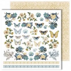 """Лист для вырезания """"Butterfly"""" из коллекции """"Dreams come true"""", 30,5х30,5 см, пл. 250 г/м"""