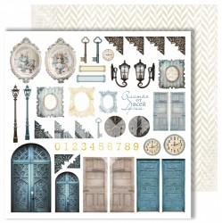 """Лист для вырезания """"Doors"""" из коллекции """"Dreams come true"""", 30,5х30,5 см, пл. 250 г/м"""