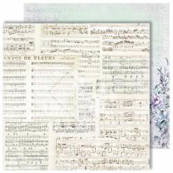 "Лист двусторонней бумаги ""Music"" из коллекции ""Flowers Symphony"", 30,5х30,5 см, пл. 250 г/м"