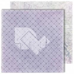 """Лист двусторонней бумаги """"Violin"""" из коллекции """"Flowers Symphony"""", 30,5х30,5 см, пл. 250 г/м"""