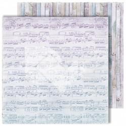 """Лист двусторонней бумаги """"Notes"""" из коллекции """"Flowers Symphony"""", 30,5х30,5 см, пл. 250 г/м"""