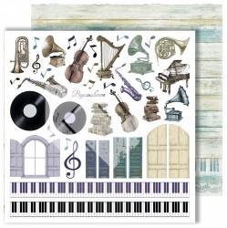 """Лист для вырезания """"Elements"""" из коллекции """"Flowers Symphony"""", 30,5х30,5 см, пл. 250 г/м"""