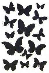 Стикеры с эффектом меловой доски Бабочки