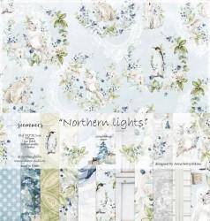 "Набор двусторонней бумаги ""Northern lights"" 190гр, 30,5х30,5см, 10 листов +1 бонус"